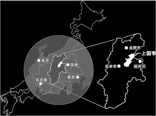 上田市地理イメージ